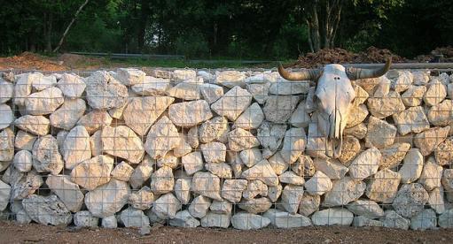 Stone Gabion Baskets Limestone Walls Garden Landscaping Lime Stone