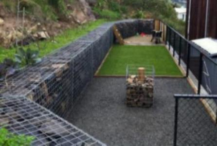 Gabion Stone Fencing Ideas Gabion Fence Seat Idea