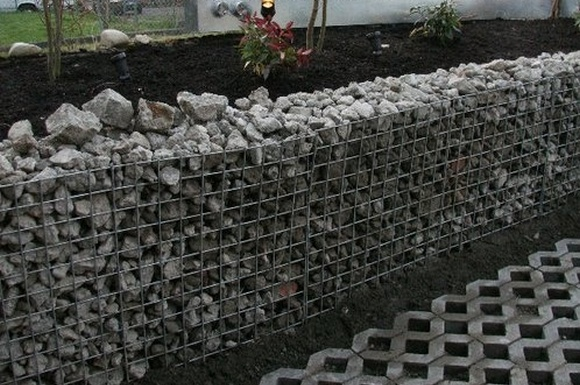 gabion terrace and steps recycled concrete gabion retaining walljpg - Gabion Retaining Wall Design