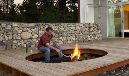 Gabion Outdoor Fire Pit Stone Fire Pit Design Ideas Aus