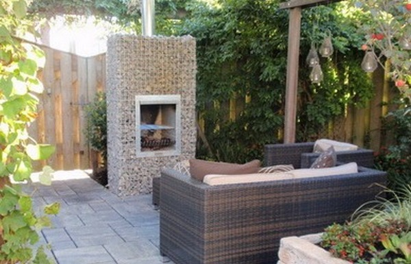 Gabion outdoor fireplaces garden landscaping rocks for Landscape design ideas nz