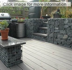 gabion terrace and steps