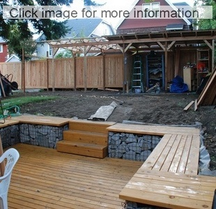 gabion decking and steps