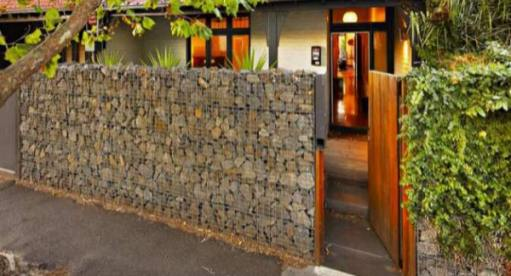 Gabion Fences And Stone Walls Rock Fence Design Australia
