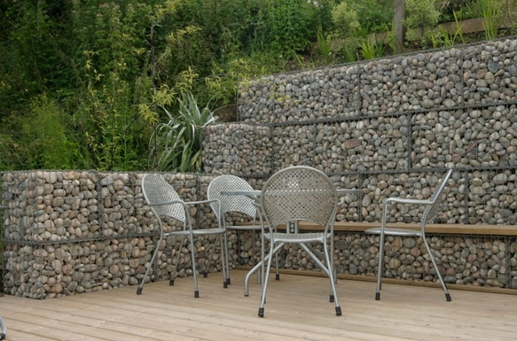 Curved Gabion Wall Ideas | How To Build A Curved Gabion Wall