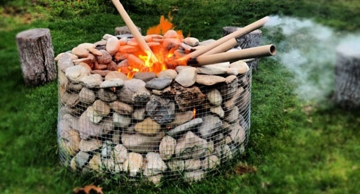 Gabion Outdoor Fire Pit Stone Fire Pit Design Ideas Aus
