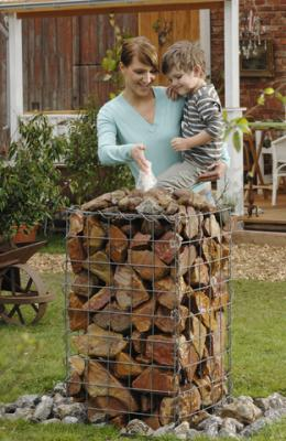 small gabion water fountain