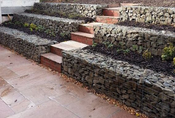 Gabion retaining walls Stone wall ideas Gabion1 Aus