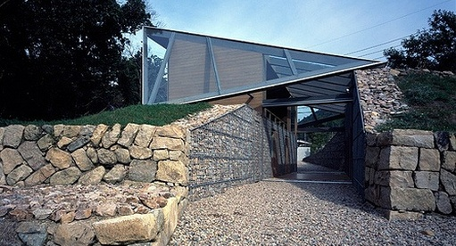 gabion stone house wall ideas