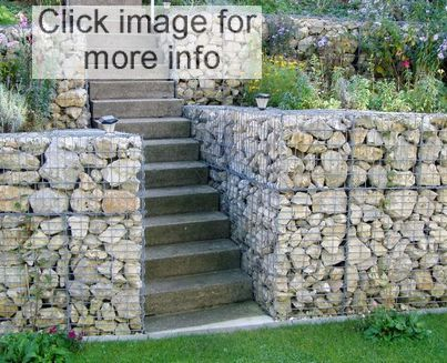 retaining wall examples stepped gabion walls - Gabion Retaining Wall Design