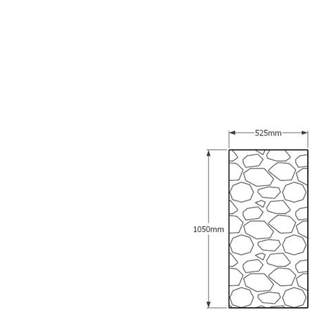 1050mm x 525mm gabion wall