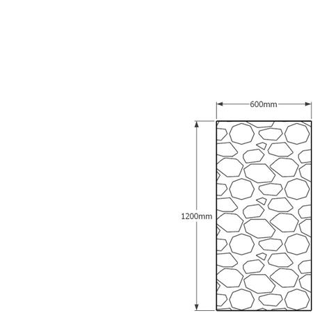 1200mm x 600mm gabion wall