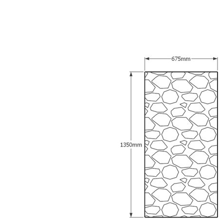 1350mm x 675mm gabion wall