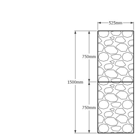 1500mm x 525mm gabion wall
