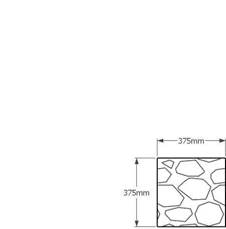 375 x 375mm gabion wall