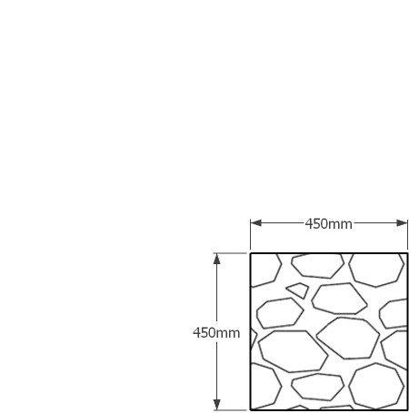 450 x 450mm gabion wall