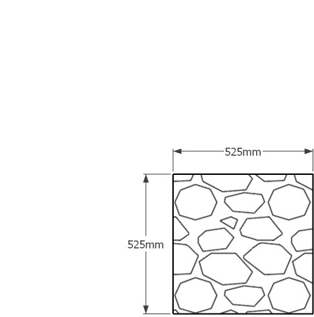 525 x 525mm gabion wall