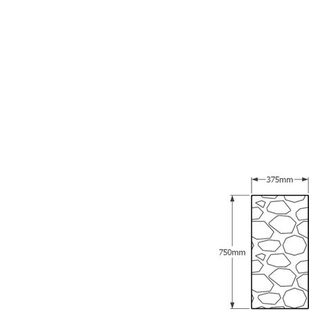 750mm x 375mm gabion wall