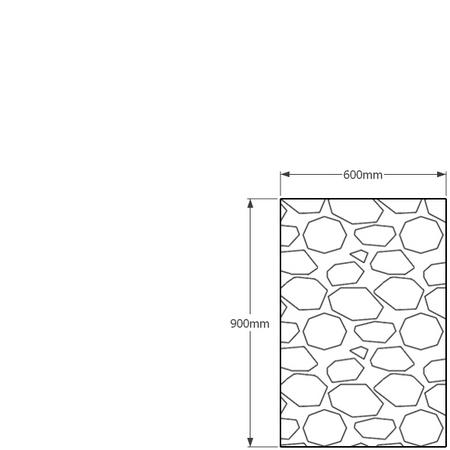 900mm x 600mm gabion wall