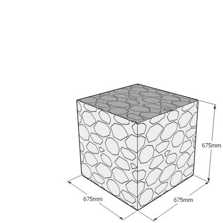 675mm gabion cube