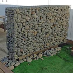 tall supported gabion wall
