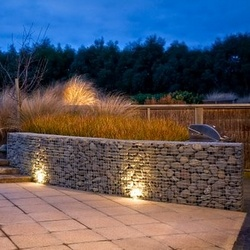 gabions by night light