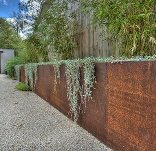 Corten Steel Retaining Wall Gabion1 Australia