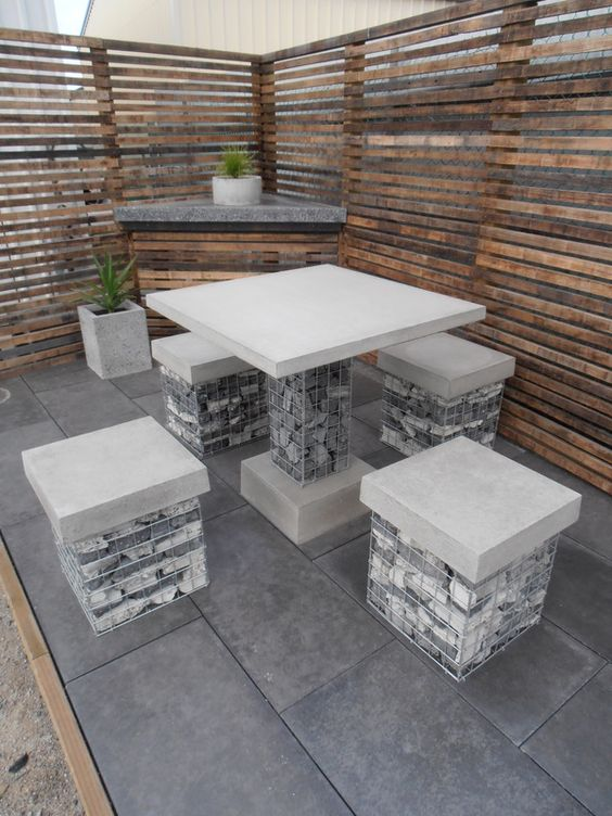 gabion seat ideas