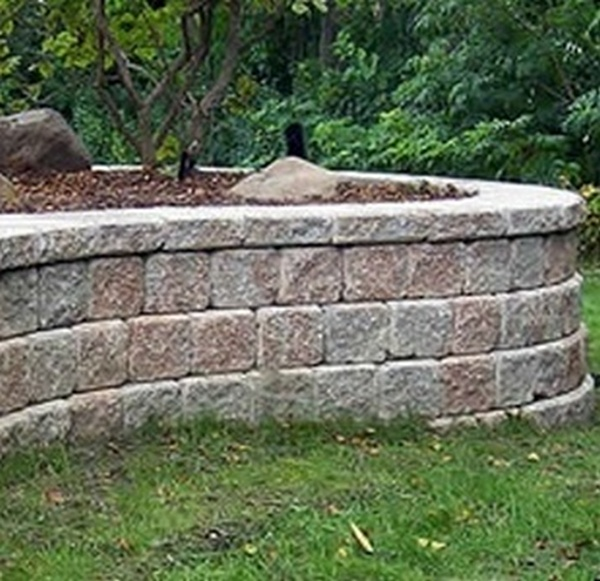 Concrete block retaining system gabion1 australia for Concrete block walls design