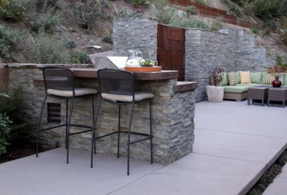 stone veneer over concrete
