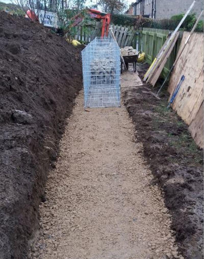gabion retaining wall foundation