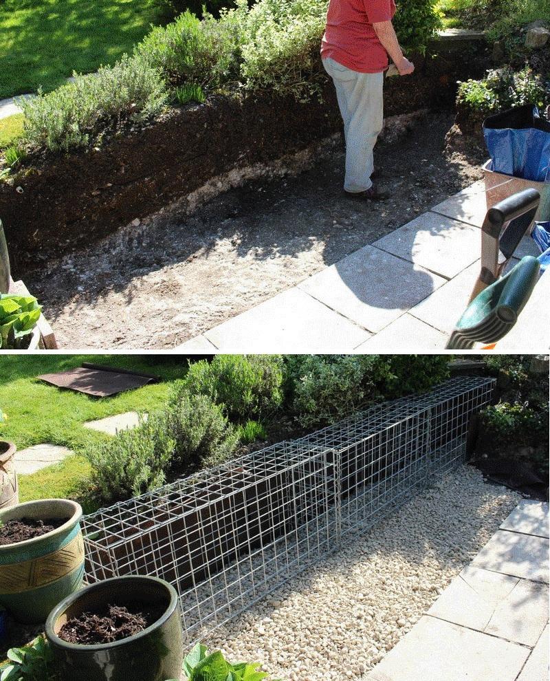 small gabion wall foundation
