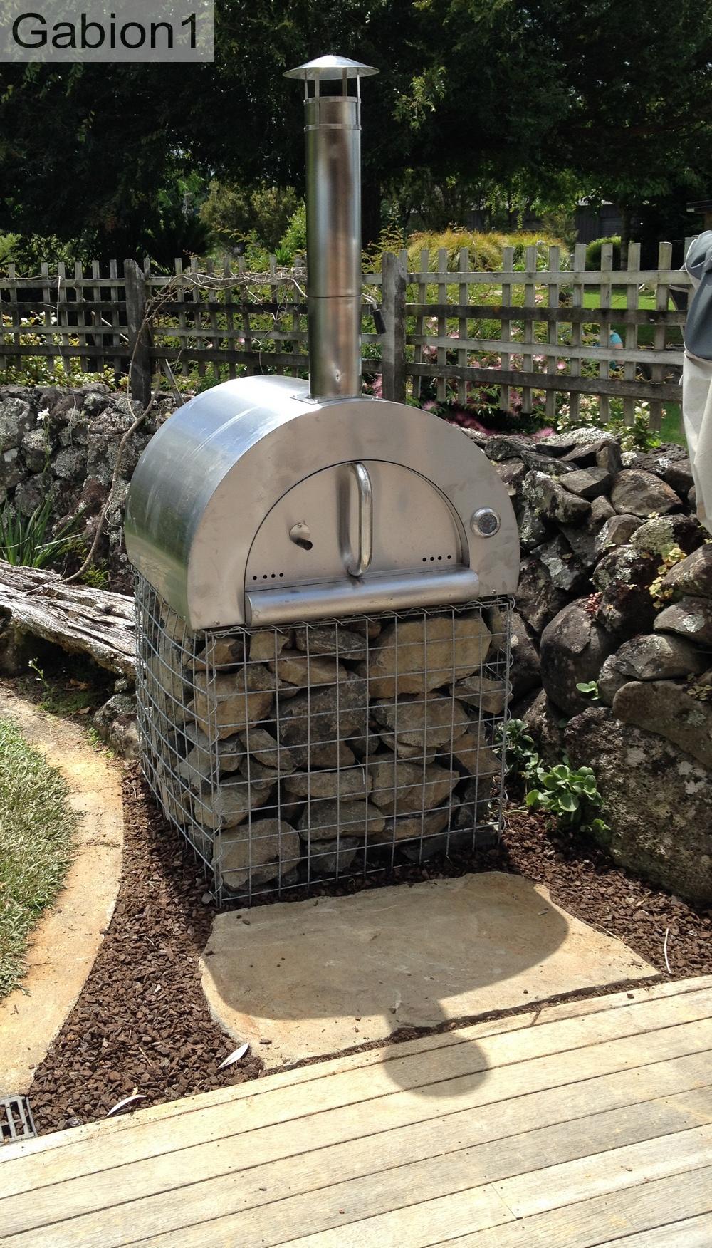 gabion pizza oven base