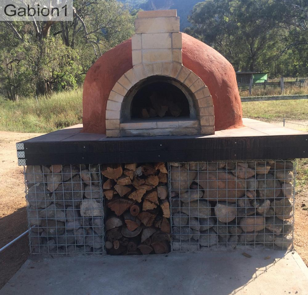 large pizza oven base