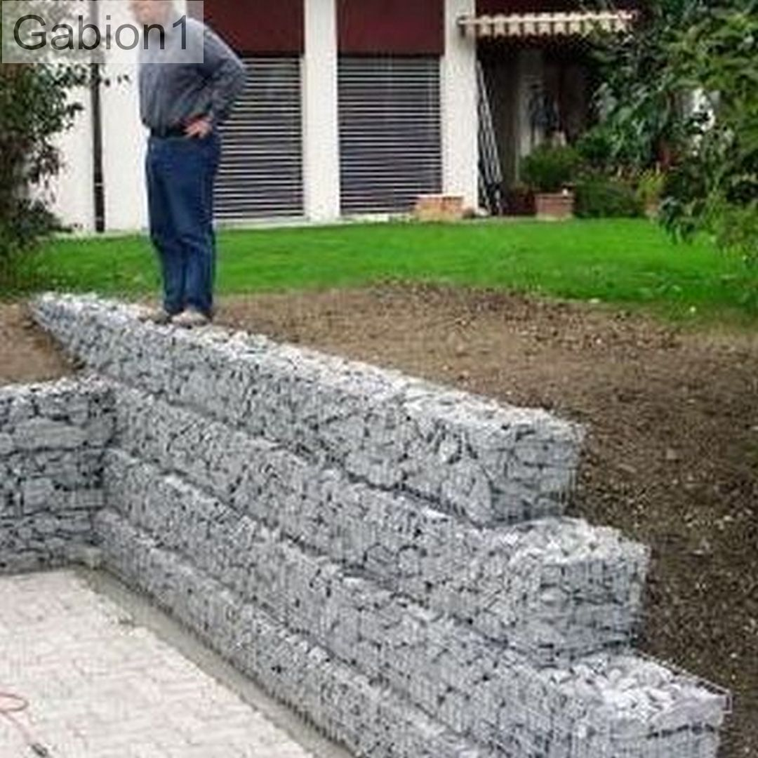 small stepped gabion retaining wall