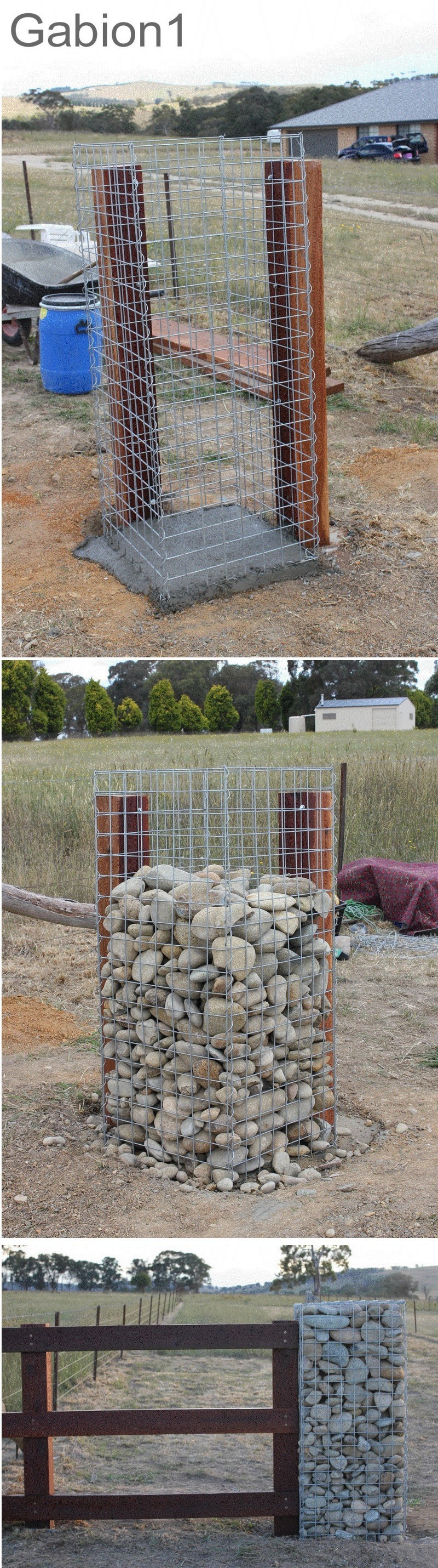 gabion gate post example