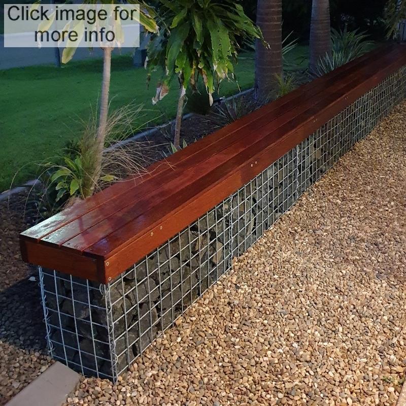 gabion seating patio