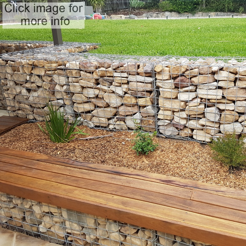 gabion seating and retaining wall