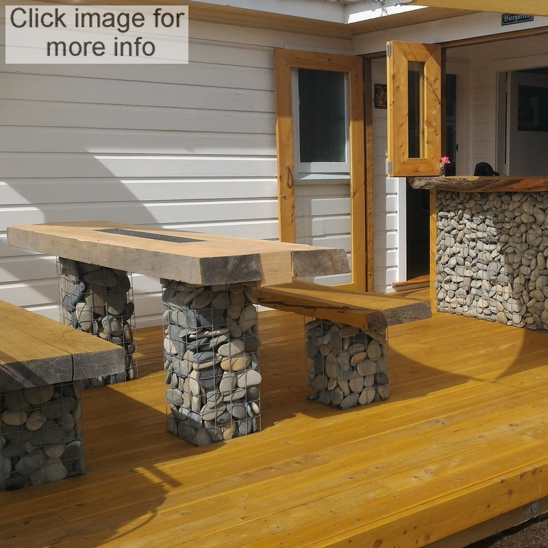 gabion bar and seating